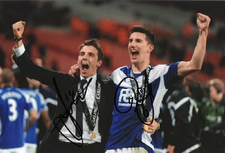 Matt Derbyshire & Liam Ridgewell, Birmingham City, signed 12x8 inch photo.